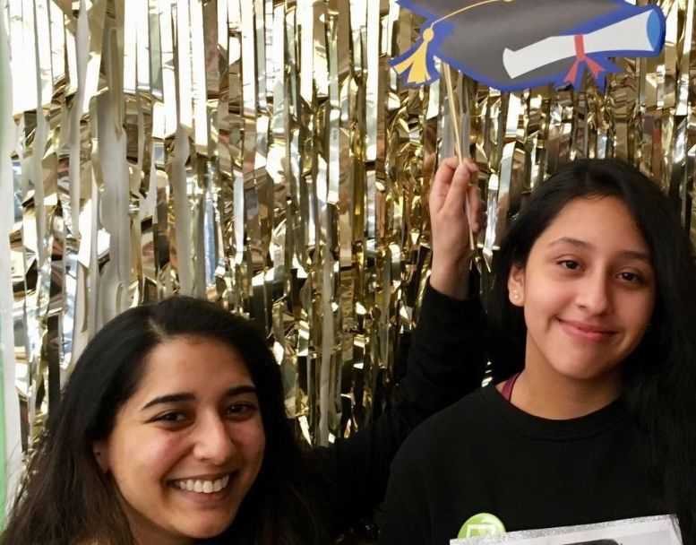 Citi volunteer Farjana with her mentee Rosemary